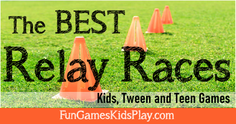 Relay race games for kids, tweens and teens